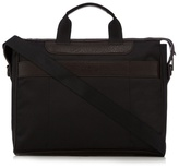 Jeff Banks Black Textured Two Handle Laptop Bag