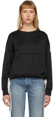 Moncler Black Tie Girocollo Sweatshirt