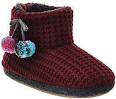 Cuddl Duds Fleece Lined Ankle Bootie Slippers with Foam Insole