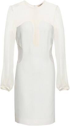 Roberto Cavalli Georgette-paneled Crepe Mini Dress