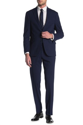 Kenneth Cole Reaction Pinstripe Navy Two Button Slim Fit Suit