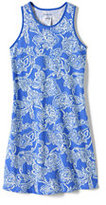 Classic Toddler Girls Tank Dress-Sea Cliff Blue Paisley