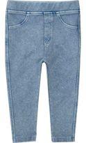 River Island Mini girls light blue denim-look leggings