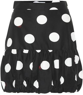 MSGM Polka-dot cotton miniskirt