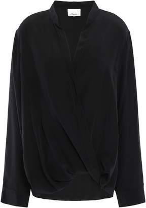 3.1 Phillip Lim Twisted Silk Crepe De Chine Shirt