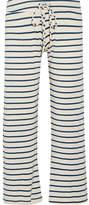 Eberjey Lounge Striped Jersey Pajama Pants - Ecru