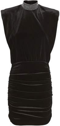 Ronny Kobo Nillie Velvet Mini Dress