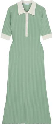 Iris & Ink Alison Ribbed Merino Wool Midi Dress