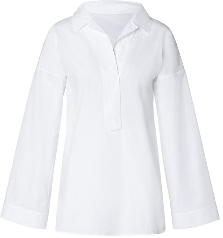 Jil Sander White Brushed Cotton Tunic-Style Shirt