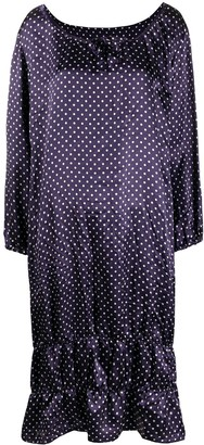 Comme des Garcons Polka Dot Print Tiered Dress