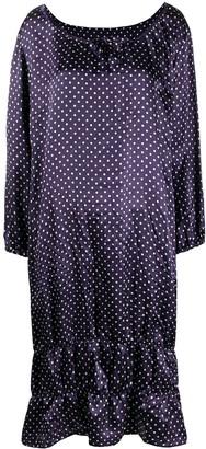 COMME DES GARÇONS GIRL Polka Dot Print Tiered Dress