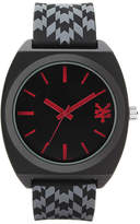 Zoo York Mens Black And Red Rubber Strap Watch