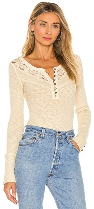 Free People Come On Over Henley Top
