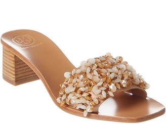 Tory Burch Logan 45Mm Satin Slide Sandal