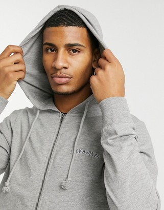 Jack and Jones Originals mix and match zip through hoodie