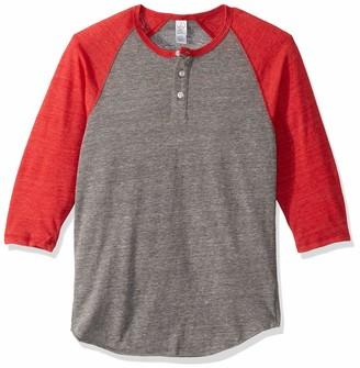 Alternative Men's Eco-Jersey 3/4-Sleeve Raglan