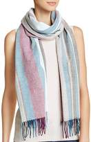 Aqua Vertical Stripe Scarf - 100% Exclusive