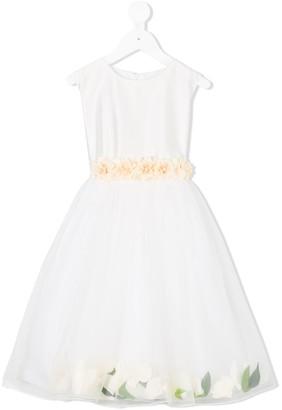 Lesy flower applique dress