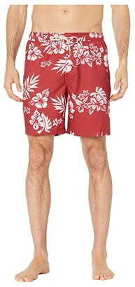 Quiksilver Waterman Floral Feelings Volley 18 (Chili Pepper) Men's Swimwear