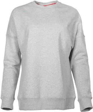 Puma AL Crew Sweat (Light Grey Heather) Women's Clothing