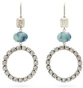 Isabel Marant Crystal And Marbled Drop Earrings - Womens - Blue