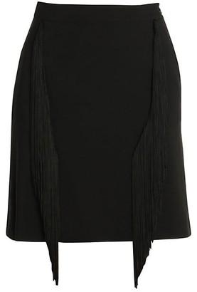 Stella McCartney Cady Fringe Stretch Pencil Skirt