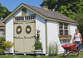 Little Cottage Company Colonial Williamsburg Precut Playhouse Kit, 10' x 10'