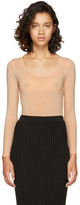 Wolford Tan Sheer Buenos Aires String Bodysuit
