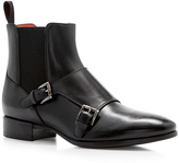 Santoni Double Monk Ankle Boot