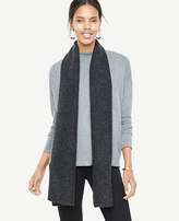 Ann Taylor Cashmere Ribbed Scarf