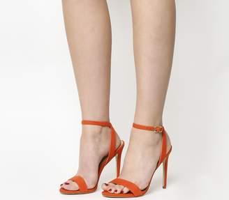 Office Alana Single Sole Sandals Bright Coral Nubuck