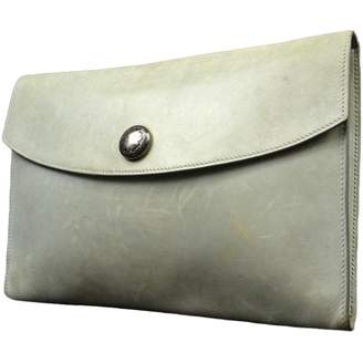 Hermes Grey Leather Clutch bags