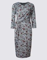 Marks and Spencer Floral Print 3/4 Sleeve Shift Dress