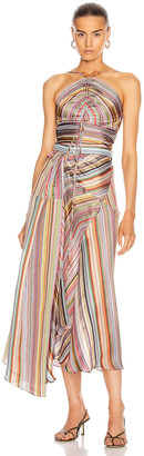 Rosie Assoulin Halter Waist Tie Top in Rainbow | FWRD