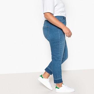 """Castaluna Plus Size Raw Hem Boyfriend Jeans, Length 28"""""""