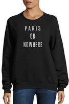 Knowlita Paris Or Nowhere Graphic Sweatshirt