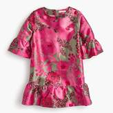 J.Crew Girls' drop-waist dress in pink floral