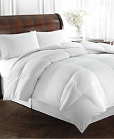 Lauren Ralph Lauren Heavyweight White Goose Down King Comforter, 500 Thread Count 100% Cotton Dobby Stripe Cover, Baffle Box Construction