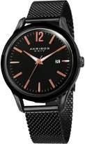 Akribos XXIV Men's Quartz Easy-to-Read Stainless Steel Watch, 41mm