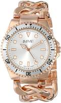 August Steiner Women's AS8079RG Swiss Diver Rose-Tone Twist Chain Bracelet Watch