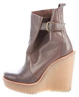 Pierre Hardy Leather Wedge Ankle Boots