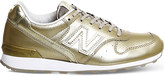 New Balance 996 metallic leather trainers