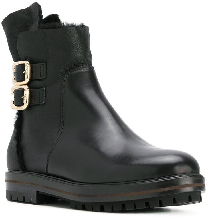 AGL chunky buckled boots