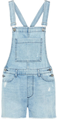 DL1961 Abigail Distressed Denim Overalls