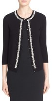 St. John Women's Hand Embellished Wool & Cashmere Cardigan