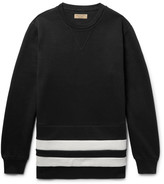 Burberry - Striped Fleece-back Cotton-blend Jersey Sweatshirt
