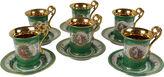 One Kings Lane Vintage German Teacups & Saucers, S/6