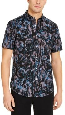 INC International Concepts Inc Men's Rustic Short Sleeve Shirt, Created for Macy's