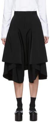 Noir Kei Ninomiya Black Short Side Pleat Trousers