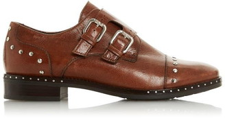 Dune London Gryffin Studded Toecap Double Strap Monk Shoes